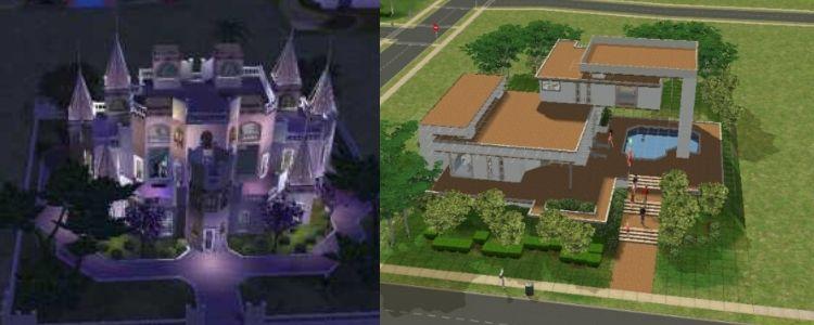 domy ve hře The Sims 2