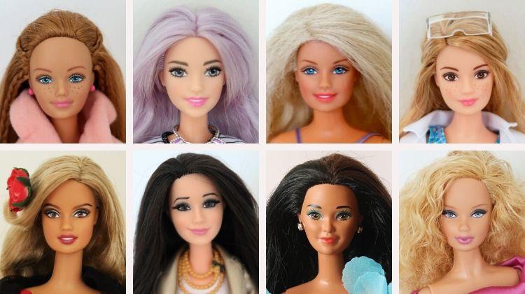 Barbie tváře - příklady