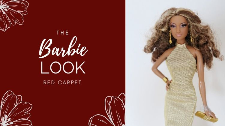 the Barbie Look Red Carpet Gold Gown