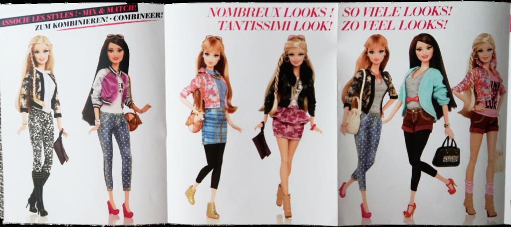 kombinace outfitů z letáčku Barbie Sweet Heart
