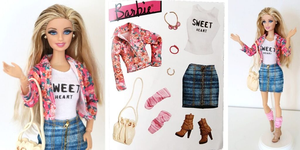outfit Barbie Style Sweet Heart