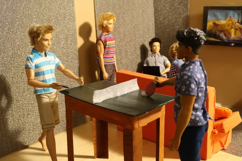 diy barbie ping pong
