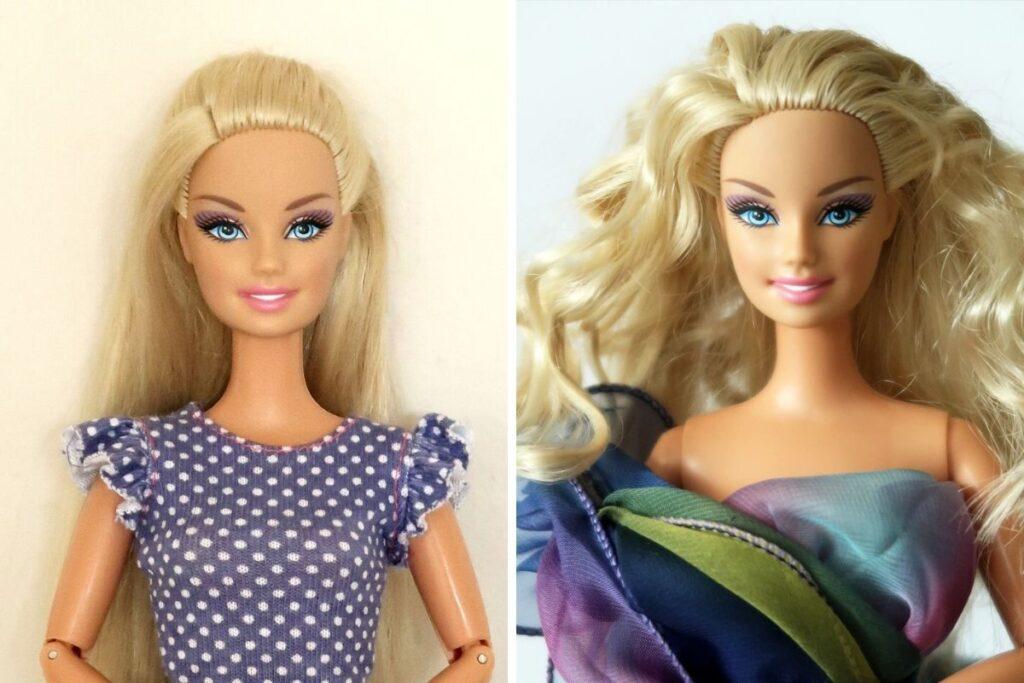 Barbie GG před a po