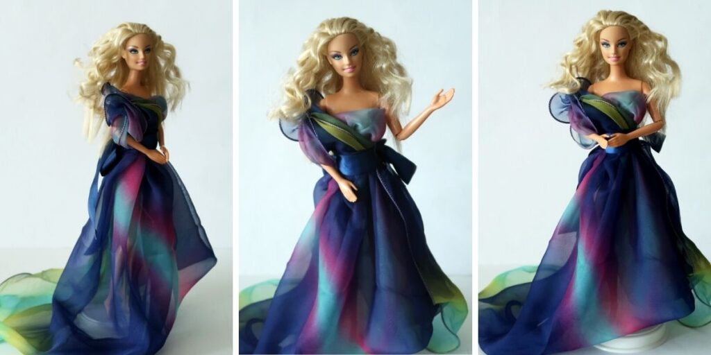 Barbie vílí šaty ze šátku