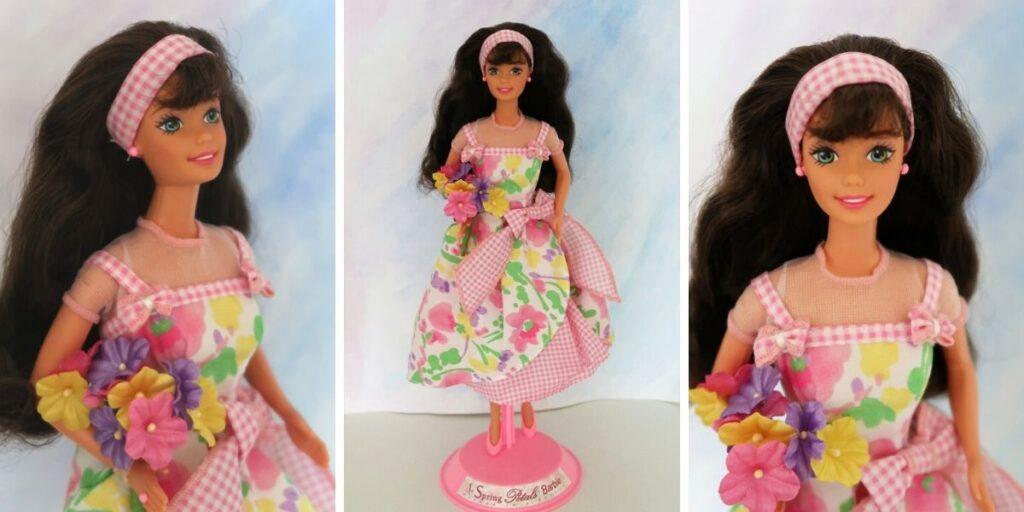 hnědovlasá Barbie Spring Petals